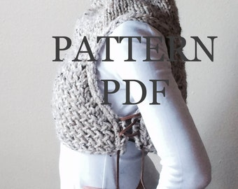 New PATTERN PDF - Pattern for DIY Huntress Vest - Easy Knitting Pattern - Instant Download - customizable sizes