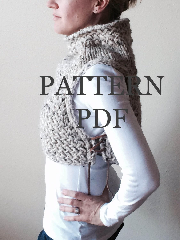 Snow Dog Knitting Pattern Free Download : New PATTERN PDF - Pattern for DIY Huntress Vest - Easy Knitting Pattern - Ins...