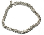 On hold for Markus A. - Kings chain Bracelet - sterling silver, handmade, artisan, tudor, man, woman, unisex  - free worldwide shipping!