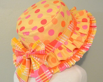 Reversible Bucket Hat PDF Sewing Pattern ... New ... With Removable Ruffle Band