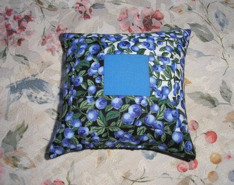 Maine Blueberry Balsam Fir Patchwork Pillow    Heavenly Scent