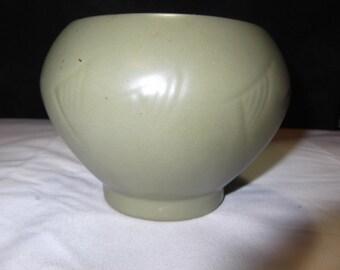 McCoy Floraline Sage Green Flower Pot with Fish Desin
