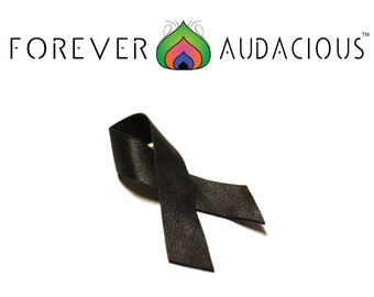 JUNETEENTH (Genuine Leather Handcrafted Commemorative Ribbon) Pin FREE Gift w/ Purchase
