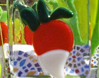 Garden Marker,Vegtable,Fused Glass,Plant Stakes - Choose 4 and Save