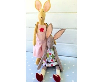 Emily and Albert the little Rabbit Softies instant download pdf file