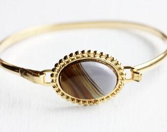 Stripe Oval Bracelet