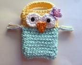 Cute Crochet Owl Cell Phone Cozy/Case/Sleeve