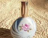 Perfume Atomizer with Pink Roses