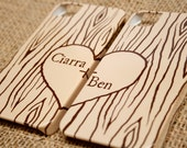 Heart in Woodgrain iPhone Cases - Valentine's Day - Faux Bois Samsung Galaxy, Newlywed, Boyfriend, Girlfriend, Couples - Mix and Match