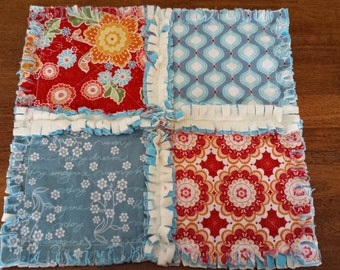 Flutter Mini Security Blanket - Rag Quilt