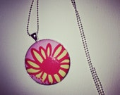 Lilly Pulitzer Fabric Coverbutton Necklace