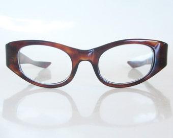 Vintage 1960s Suntimer Sunglasses Eyeglasses Oversized Cat Eye Tortoishell Thick Ladies Womens 60s Mid Century Victory Eyewear Optical