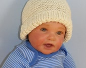 Instant Digital File pdf download Knitting pattern-Baby Garter Stitch Beanie Hat and Booties Set  pdf download knitting pattern