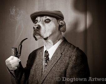 Sherlock Holmes Dog Etsy