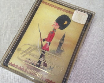 Vintage Pinochle Playing Cards British Soldier Big Ben