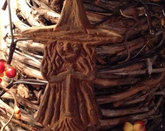Blackened Beeswax Witch Ornie  #308