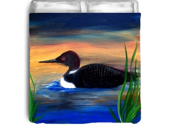 Loon Lake Comforters from my art