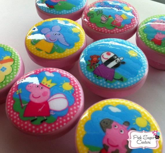 Like this item. 8 PEPPA PIG Handmade Knobs m2m Bedding Drawer Pull Kids Kids
