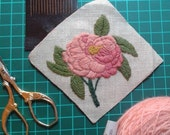 Traditional embroidery kit - Rose de Provins