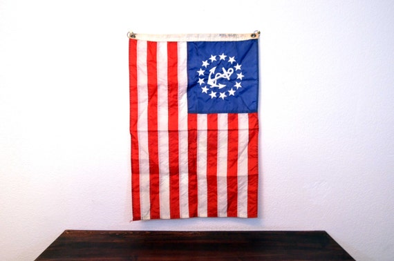 Vintage United States Yacht Ensign Flag by Annin