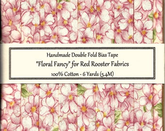 6 Yards Floral Fancy Handmade Double Fold Bias Tape from Red Rooster