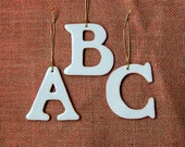 Alphabet Letters Plain of Glazed Clay