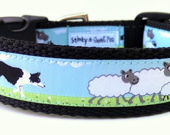 Border Collie - Dog Collar / Handmade / Pet Accessories / Adjustable / Herding / Pet Lover / Gift Idea