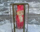 Vintage glass and Brass Display Curiosity case Box