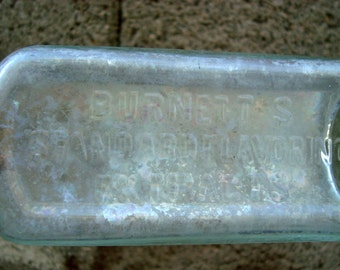 Vintage Bottle Burnett's Standard Flavoring Extracts