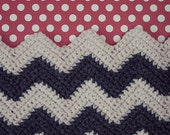 Chevron and Dot - Crochet Chevron and Polka Dot Pattern Home Decor Print