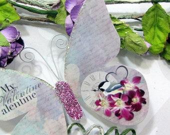 Butterfly Embellishments Framboise
