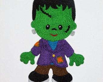 """Embroidered Iron On Applique- """"Frankenstein"""""""