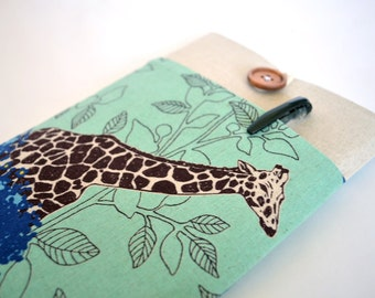 Giraffe iPad Case, Custom Tablet, iPad Mini Retina Sleeve, Galaxy Tab 3 7.0 or 8.0 Padded Cover - Savannah