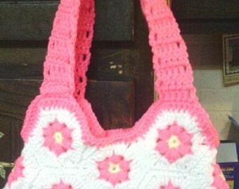 Pink Flower Purse
