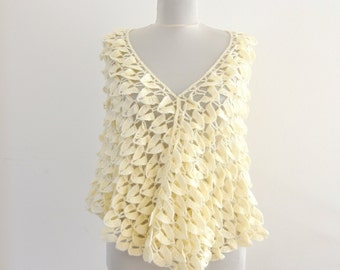 Crochet Scarf Shawl Weddings Shawl Ivory Mohair Wrap Stole Wedding Accessories