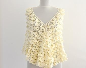 Crochet Scarf Shawl Weddings Shawl Ivory Mohair Wrap Stole Wedding Accessories