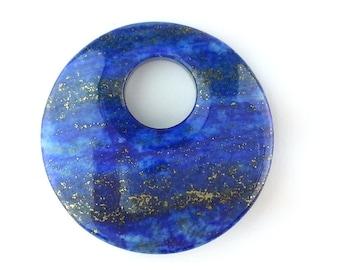 GEM07010130) 1 pc of 30mm Lapis Lazuli, Round Donut Shape