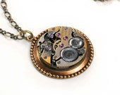 Steampunk antique Watch Movement Necklace