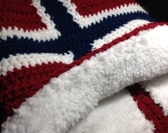 Norwegian Flag Cozy Cowl