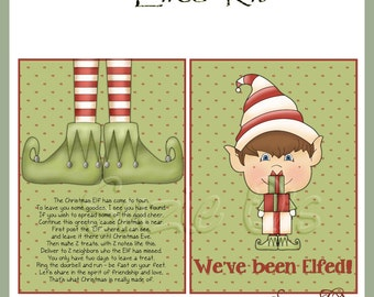 You've Been Elfed Kit - Digital Printable - Immediate Download
