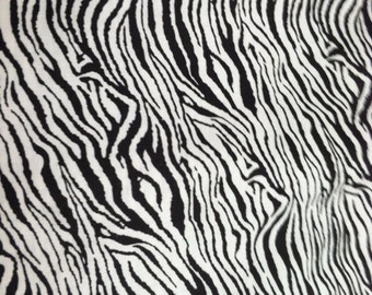 Animal print fabric cotton in zebra stripe