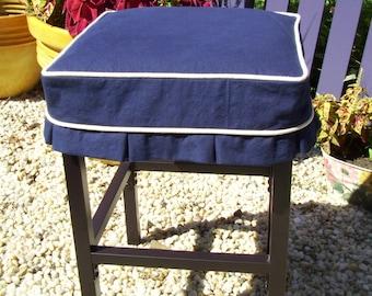 Square Barstool Slipcover Simple Bar Stool By Applecatdesigns
