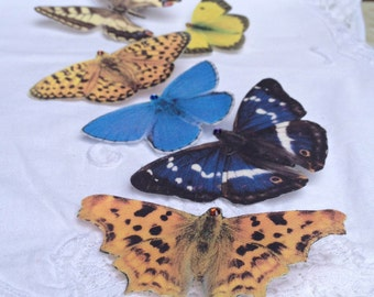 Hand cut silk butterfly hair clips - British Butterfly Collection 2