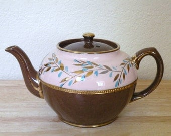 1950s SADLER Staffordshire Teapot with Lid Made in England
