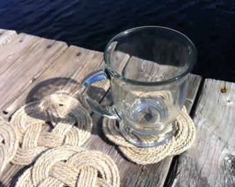 Nautical Decor - 6 Hemp Coasters - Great Hostess Gift or Wedding Gift