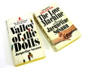 Vintage 1960s Novels Valley of the Dolls and The Love Machine by Jacqueline Susann / Heartbreak, Addiction, and Tragedy