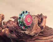Tribal silver ring  size 9  ( FREE SHIPPING SALE)