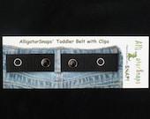 """The ORIGINAL Snappy Snaps """"Black"""" Adjustable Toddler Belt"""