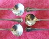 6 Vintage Gorham Bullion Soup Spoons Antique Sterling