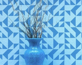 Shapes Allover Stencil - Small - Reusable stencils for  DIY wall decor - better than wallpaper!